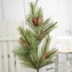 11 Realistic Artificial Ponderosa Pine Spray