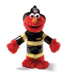 AardvarksToZebras.com - Elmo, 14 in. Fire Fighter, FDNY from Sesame Street® by Gund®