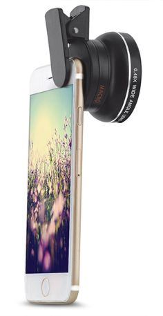 Aduro U-Snap 2-In-1 15x Macro & 0.45x Wide Angle Optical Camera Lens for All Smartphones & Tablets Including Apple, Android, & Samsung w/ Universal Attachment Clip & Microfiber Carrying Bag. Compatibility: Apple, Android, Samsung, HTC, Motorola, Nexus, Nokia, LG, HP, Sony, Blackberry, Smartphones & Tablets. Macros Lens: 15x Enables you to get super close to objects to pick up all those small details you usually miss. Please keep 1-2 in distance from your object when using the macro lens…