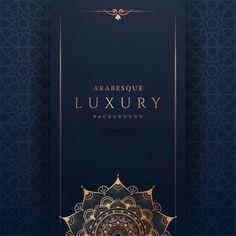 Luxury Mandala Background With Golden Arabesque Pattern Arabic Islamic East Style Mandala Background, Vector Background, Invitation Design, Invitations, Luxury Background, Arabesque Pattern, Framed Wallpaper, Business Card Design Inspiration, Flower Frame