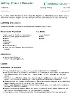 Lesson Plans for First Grade