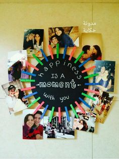 Diy 1 year anniversary gifts for boyfriend gifts pinterest happiness is a moment with you picture collage solutioingenieria Choice Image