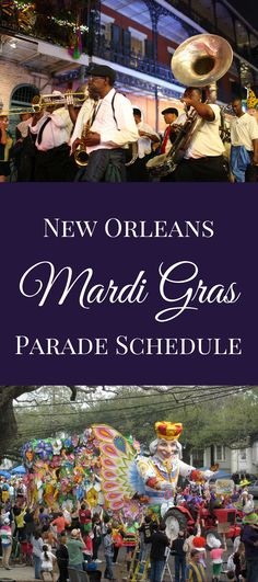 A Mardi Gras parade schedule for the whole season for parades rolling in Uptown New Orleans and the French Quarter. Take a look! New Orleans Hotels, Visit New Orleans, New Orleans Travel, Madi Gras, Mardi Gras Carnival, New Orleans Mardi Gras, New Orleans French Quarter, Mardi Gras Decorations