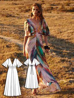 Cap Sleeve Maxi Dress 06/2016 #103 http://www.burdastyle.com/pattern_store/patterns/cap-sleeve-maxi-dress-062016?utm_source=burdastyle.com&utm_medium=referral&utm_campaign=bs-tta-bl-160516-DesertQueen103