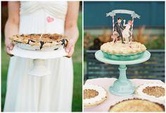 alternative wedding cakes ~ wedding pie