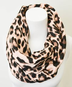 Peach Leopard Infinity Scarf Explore Pashmina and fashion scarf collection @ www.desipotli.etsy.com or @ https://www.facebook.com/Desipotli.Desipotlijeweles