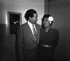Billy Eckstine and Billie Holiday at the Earle Theater, 1946.