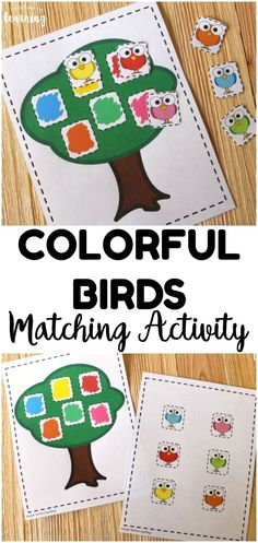 Colorful Birds Color Matching Activity for Kids - Look! We're Learning! Work on color recognition with this cute bird-themed color matching activity for kids! So simple for an early learning activity! Color Activities For Toddlers, Preschool Colors, Educational Activities For Kids, Preschool Learning, Preschool Crafts, Toddler Activities, Educational Toys, Summer Preschool Activities, Teaching