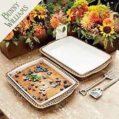 Bunny Williams Casserole Dish & Holder