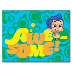Awesome! Gil Postcard | Nickelodeon Bubble Guppies Tshirts and Gifts