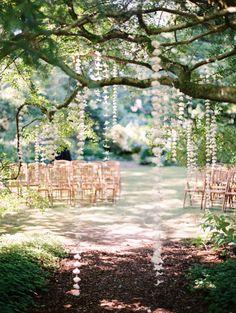 Romantic hanging floral decor: http://www.stylemepretty.com/washington-weddings/seattle/2016/02/18/elegant-quirky-dog-themed-garden-wedding/ | Photography: Jennifer Tai Photo Artistry - http://www.weddingsbyjenn.com/