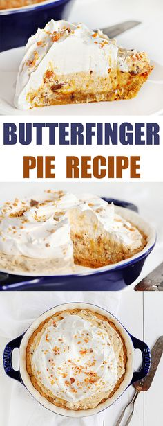 butter finger pie - use whipped cream instead of whipped topping
