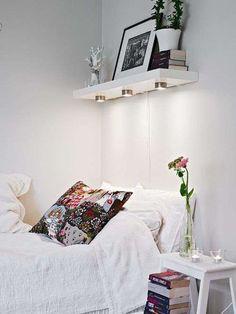 15 quartos pequenos com ideias para otimizar espaço