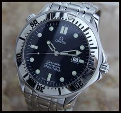 AUTHENTIC SWISS MENS OMEGA BOND SEAMASTER PROFESSIONAL 300M QUARTZ