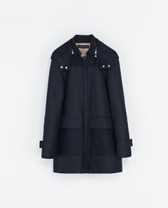 COAT WITH QUILTED LINING from Zara £109