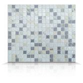 Found it at Wayfair - Mosaik Self Adhesive High-Gloss Mosaic in Pearl & Gray