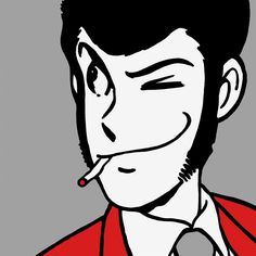 lupin the third ルパン三世 Anime Guys, Manga Anime, Anime Art, Studio Ghibli, Dylan Dog, Robot Cartoon, Foto Gif, Lupin The Third, Different Art Styles