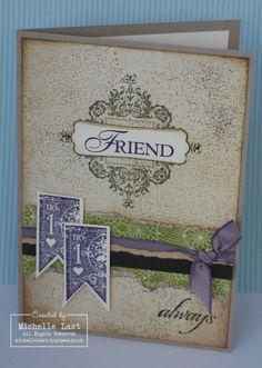 love the ripped paper and ribbon! card by Michelle Last