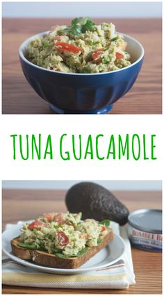 Tuna Guacamole, a heart healthy protein packed lunch ready in 10 minutes!