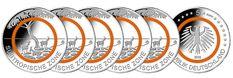 RITTER BRD, 5x 5 Euro 2018, Subtropische Zone, Komplettsatz A-J, PP #coins #numismatics