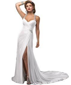 22 Gorgeous Beach Bridal Dresses Ideas from Best Beach Wedding Ideas, Beach Bridal Dresses this comes time to choose your outfit Dress, bear in mind that you want a mode that appears like that suits with the coastline style. Beach Bridal Dresses, 2016 Wedding Dresses, White Wedding Dresses, Bridal Gowns, Wedding Gowns, Dresses 2016, Bridesmaid Dresses, Disney Family, Affordable Evening Dresses