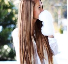 highlights long brown hair