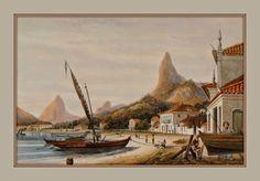 Baía de Botafogo, Rio de Janeiro por William Gore Ouseley - 1852  http://sergiozeiger.tumblr.com/post/98328220133/william-gore-ouseley-londres-reino-unido-26  William Gore Ouseley, diplomata inglês, escritor e pintor britânico, que representou o seu país no Estados Unidos , Brasil , a Argentina , Honduras e Nicarágua .