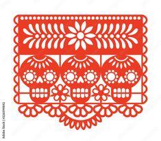 Geometric Shapes Art, Paper Cutting Templates, Manualidades Halloween, Sugar Skull Design, Free Vector Art, Shop Signs, Animal Design, Art Education, Decoration