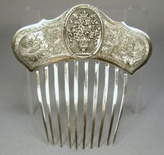1840-60's Sterling Hair comb