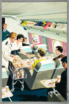 It's Nice That : Getting the Ladybird books' perspective on Britain's social and design history | Jack Matthew: Flight Two: Canada, 1959 © Ladybird Books Ltd