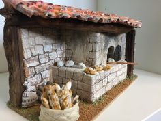 The cart of the florist Le Moulin provençal The forge du Marechal ferrant The pe . Christmas Village Display, Christmas Nativity Scene, Christmas Villages, Noel Christmas, Mini Fairy Garden, Fairy Garden Houses, Victorian Dollhouse, Diy And Crafts, Arts And Crafts