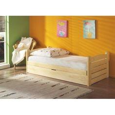 Pat din lemn de pin Ola pentru copii