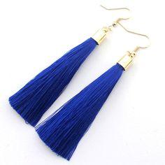 Silk Tassel Earrings Long Drop  Earrings for Women Wedding Party Jewelry Earring Accessories