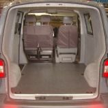 VW T5 - Light grey velour to sides and doors. Heavy duty non slip granite floorcovering. www.vanax.co.uk