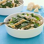 supercheap meals - like Pasta, white beans and spinach