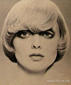 1971 bob flicks hairstyle    A blonde bob was blow-dried smooth with the fringe gently flicked out     Hairstyle by: Raphael Santarossa  Location: Montreal, Canada