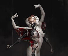 ArtStation - The Ballerina , Dunhuang Chen Character Concept, Character Art, Concept Art, Character Design, Dunhuang, Sci Fi Fantasy, Dark Fantasy, Chen, Cyberpunk Character