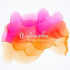 Pink and orange watercolor stain background Free Vector ~ vectorkh Watercolor Splatter, Watercolor Logo, Watercolor Texture, Watercolor Design, Texture Painting, Watercolor Background, Abstract Watercolor, Watercolor Paintings, Logo Background
