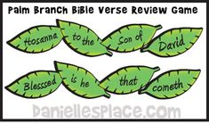 Easter Craft - Palm Branch Bible Verse Review Game from www.daniellesplace.com