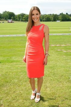 The gorgeous Charlie Webster wearing Bernshaw 'Camille' dress at the Audi Polo Challenge, Ascot - 1 June 2014
