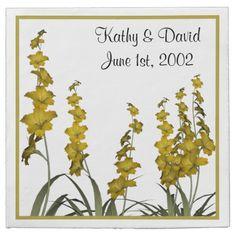 Yellow Flowers (Wedding) Paper Napkins ........... http://www.zazzle.com/yellow_flowers_wedding-256410087889273839?rf=238631258595245556