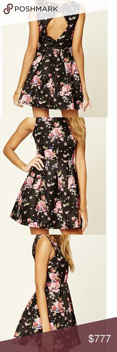🌺NEW🌺 Floral Print A-Line Dress Stunning Floral print dress by F21 features an A-Line design, round neckline, cut-out back, and a hidden zipper closure on the back. Fabric is 100% Polyester. Prices are firm unless bundled where discounts will apply. Bellamisu Boutique Dresses
