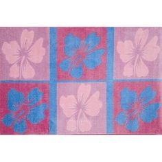 Found it at Wayfair - Supreme Hula Dream Flower Kids Rug Home Furniture Online, Furniture Deals, Blank Business Cards, Cool Rugs, Hula, Mild Soap, Blue Area Rugs, Rug Size, Pink Blue