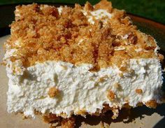 Graham Cracker Crust: •40 squares of graham crackers (crushed) •1/2 cup sugar •1/2 cup butter