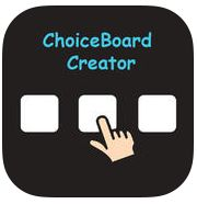 Check out this app for creating customizable choice boards. Interventions on the GO!: ChoiceBoard-Creator APP