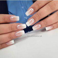Subtle Pink Ombre Nails for 50 Trendy Nail Art Designs to Make You Shine-The beauty of the nail arts is showcased in this article. We have presented some of the most exciting different nail designs. Nails Yellow, Pink Ombre Nails, Gradient Nails, Casual Nails, Stylish Nails, Business Nails, Business Casual, Nagellack Trends, Different Nail Designs