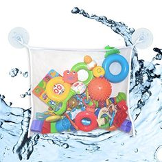 Mesh Bag Bath Toy Organizer by MintPear Extra Large with Two Large Strong Suction Cups Great for Delicate Laundry Lingerie and Makeup Tools Best for Shower Swimming and Beach 1 *** Check out this great product.