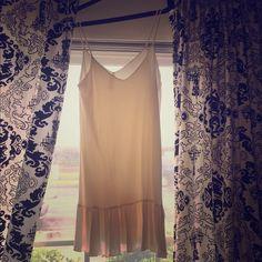 Sz.M Beige Dress Pre loved Sz.M pretty little Beige Dress. Creamy beige color, slip style dress, normal wear. Dresses Midi