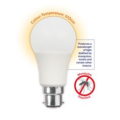 G193BC - Mosquito Repellent Globe 6W LED Energy Efficient Lighting, Energy Efficiency, Light Bulb, Globe, Lamps, Led, Color, Lightbulbs, Energy Conservation