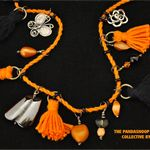 Orange is the New Black tassel and bead summer necklace. BOHO
